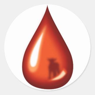 Sangre del cordero Jesús Etiquetas Redondas