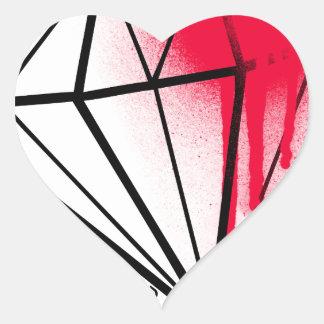 Sangre del diamante pegatina en forma de corazón
