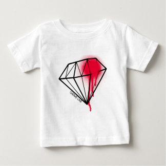 Sangre del diamante playera de bebé