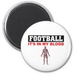 Sangre del fútbol imán de frigorífico