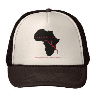 Sangre    del mapa de África de la gorra de béisbo