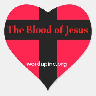 Sangre del pegatina del corazón de Jesús