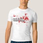 Sangre del rugbi playera