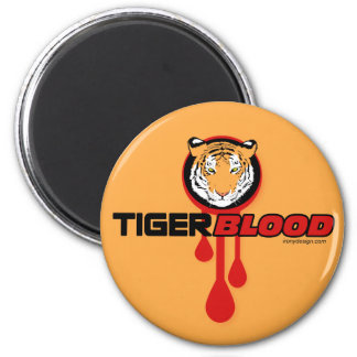 Sangre del tigre imán redondo 5 cm