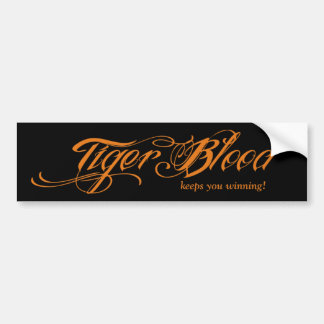 Sangre del tigre (le guarda el ganar!) pegatina para auto