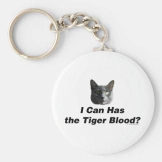 Sangre del tigre llavero redondo tipo pin