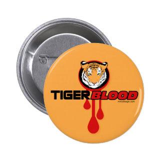 Sangre del tigre pin redondo de 2 pulgadas