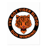 Sangre del tigre postal