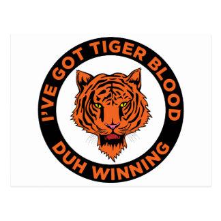 Sangre del tigre postales