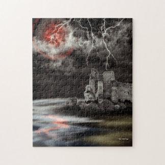 Sangre en el paisaje gótico de la luna puzzle