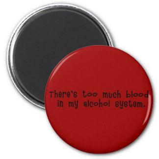 Sangre en imán del sistema del alcohol