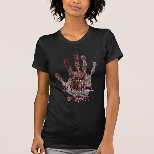 Sangre en sus manos… o la camiseta de la mina playeras