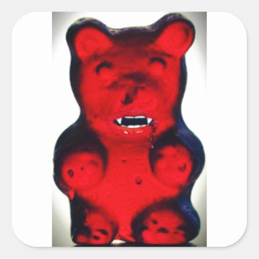 Sangre gigante que chupa el oso del caramelo pegatina