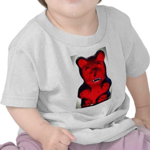 Sangre gigante que chupa el oso del caramelo camisetas