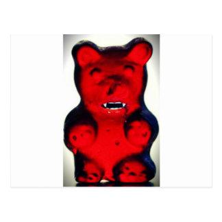 Sangre gigante que chupa el oso del caramelo tarjetas postales