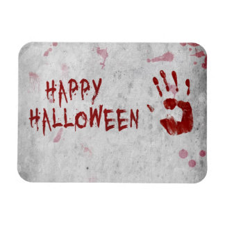 Sangre Handprint Halloween - imán flexible