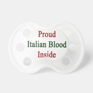 Sangre italiana orgullosa dentro chupetes para bebes