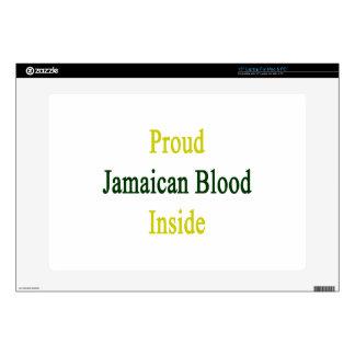 Sangre jamaicana orgullosa dentro 38,1cm portátil calcomanías