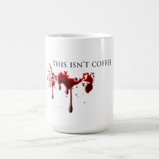 "Sangre ""no del café"" del humor del vampiro taza"