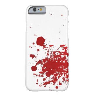 Sangre o caso del diseño de la salpicadura de la funda barely there iPhone 6