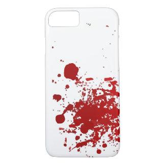 Sangre o caso del diseño de la salpicadura de la funda iPhone 7