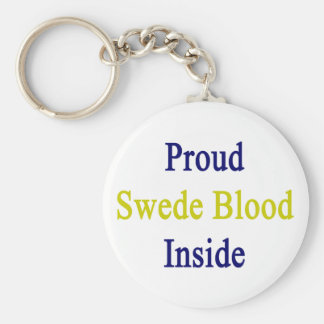 Sangre orgullosa sueco dentro llavero redondo tipo pin