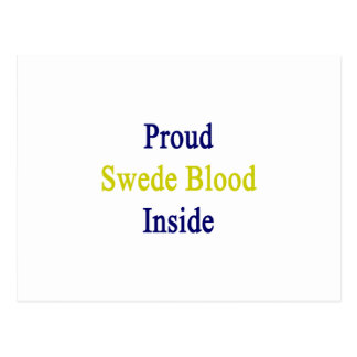 Sangre orgullosa sueco dentro postal