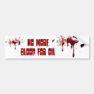 Sangre para el aceite pegatina para auto