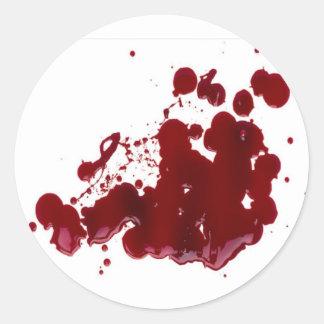 Sangre Pegatina Redonda