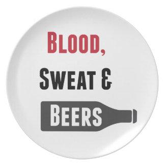 Sangre, sudor y cervezas plato de cena