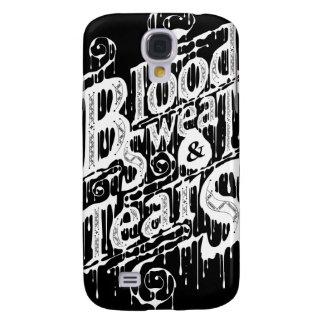 Sangre, sudor, y rasgones - caso vivo de HTC (negr Funda Para Galaxy S4