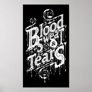 Sangre, sudor, y rasgones - poster (negro)