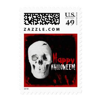 Sangre y franqueo del feliz Halloween del cráneo Timbres Postales