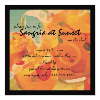 Sangria at Sunset on the Deck Party Invitation
