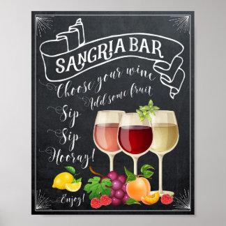 sangria bar poster chalkboard