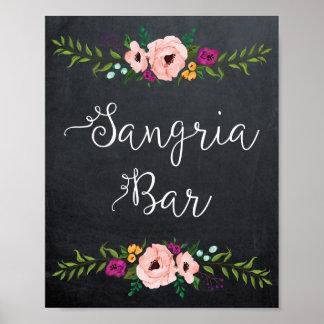 Sangria bar sign poster