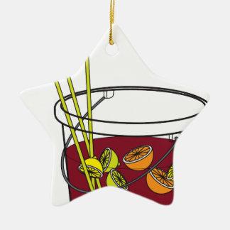 Sangria bucket ceramic ornament