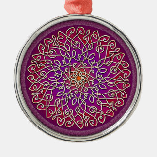 Sangria Celtic Burst Metal Ornament