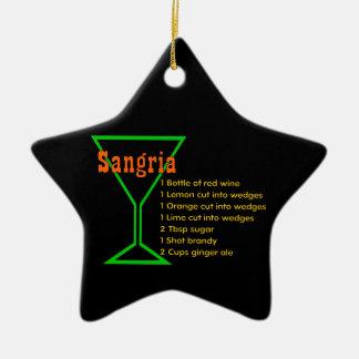 Sangria Ceramic Ornament