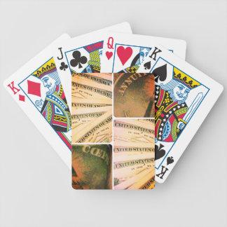 """Sangría del """"número afortunado"""" barajas de cartas"""