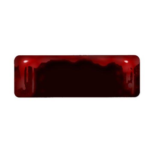 sangría etiqueta de remite
