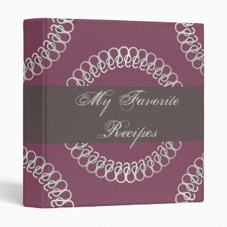 Sangria Eyelets Recipe Book 3 Ring Binder