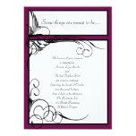 "Sangria Floral Wedding Invitations 5"" X 7"" Invitation Card"