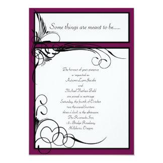 Sangria Floral Wedding Invitations