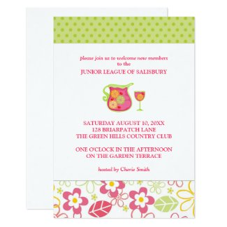 Sangria Garden Party Invitations