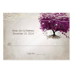 Sangria Heart Leaf Tree Table Place Cards Large Business Cards (Pack Of 100)
