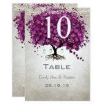 Sangria Heart Leaf Wedding Table Number Card