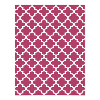 Sangria Moroccan Tile Trellis Pattern 4.25x5.5 Paper Invitation Card