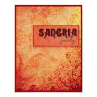 """Sangría Party 4.25"""" X 5.5"""" Invitation Card"""