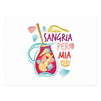 Sangria Per Mia Postcard